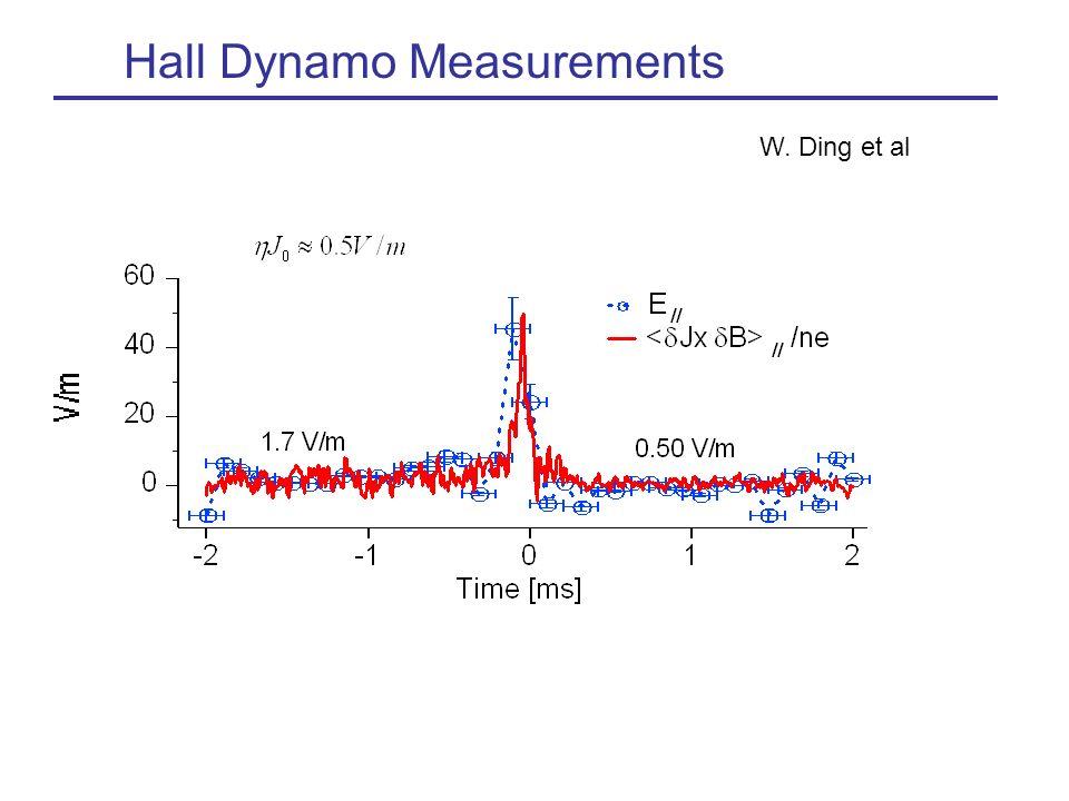 Hall Dynamo Measurements W. Ding et al