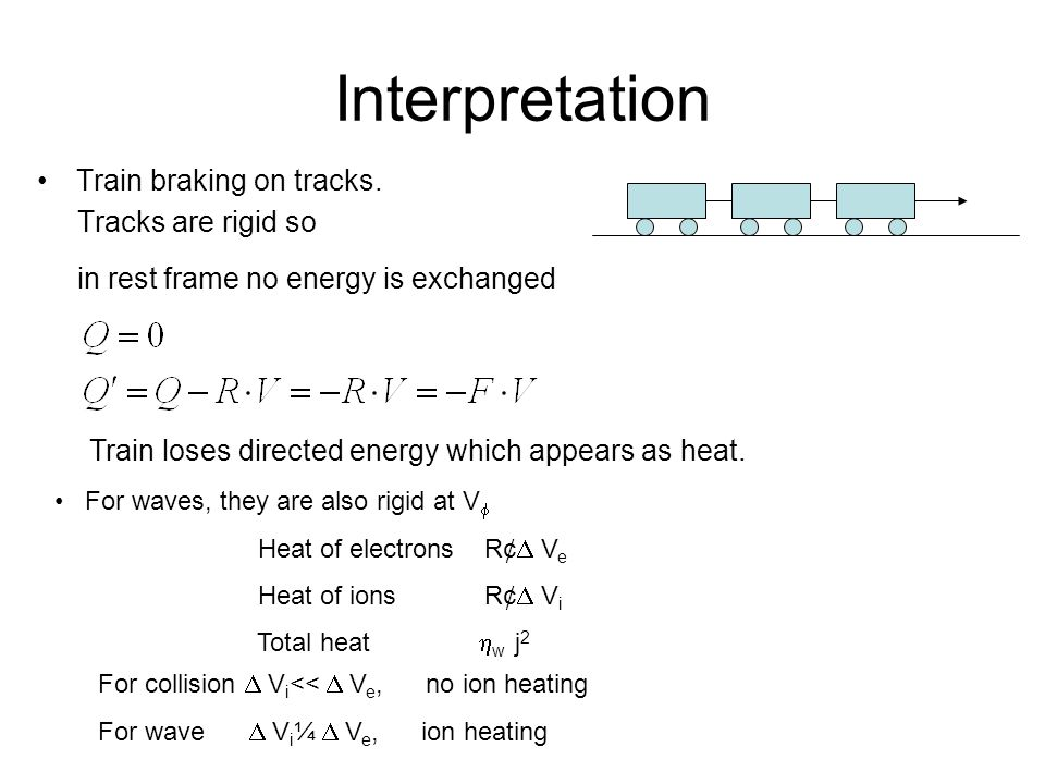 Interpretation Train braking on tracks.