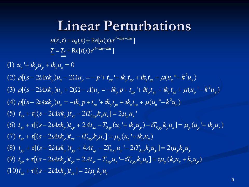 Linear Perturbations 9