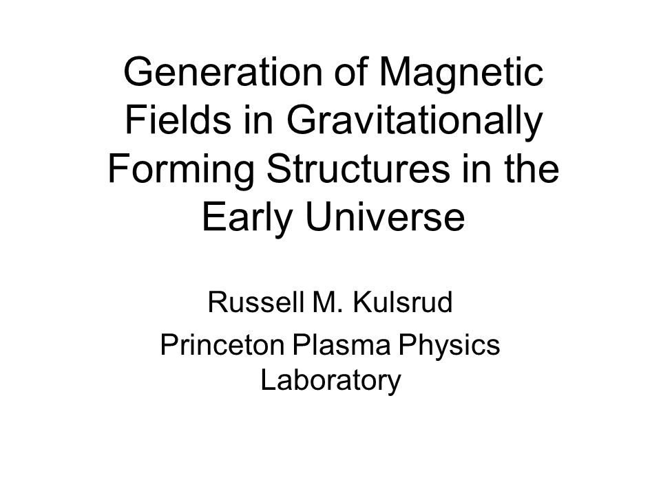 Generation of Magnetic Fields in Gravitationally Forming Structures in the Early Universe Russell M.