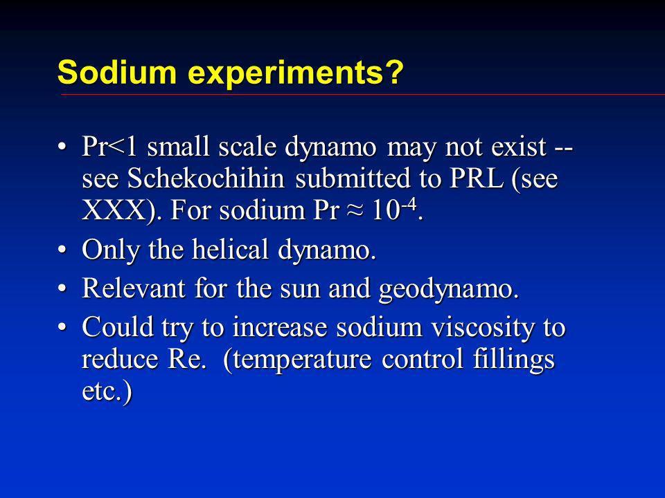 Sodium experiments.