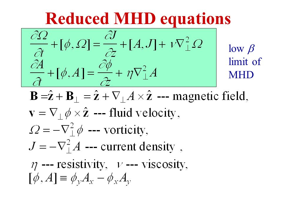 Reduced MHD equations low limit of MHD