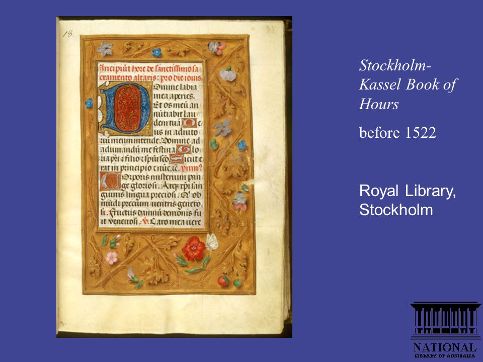 Stockholm- Kassel Book of Hours before 1522 Royal Library, Stockholm