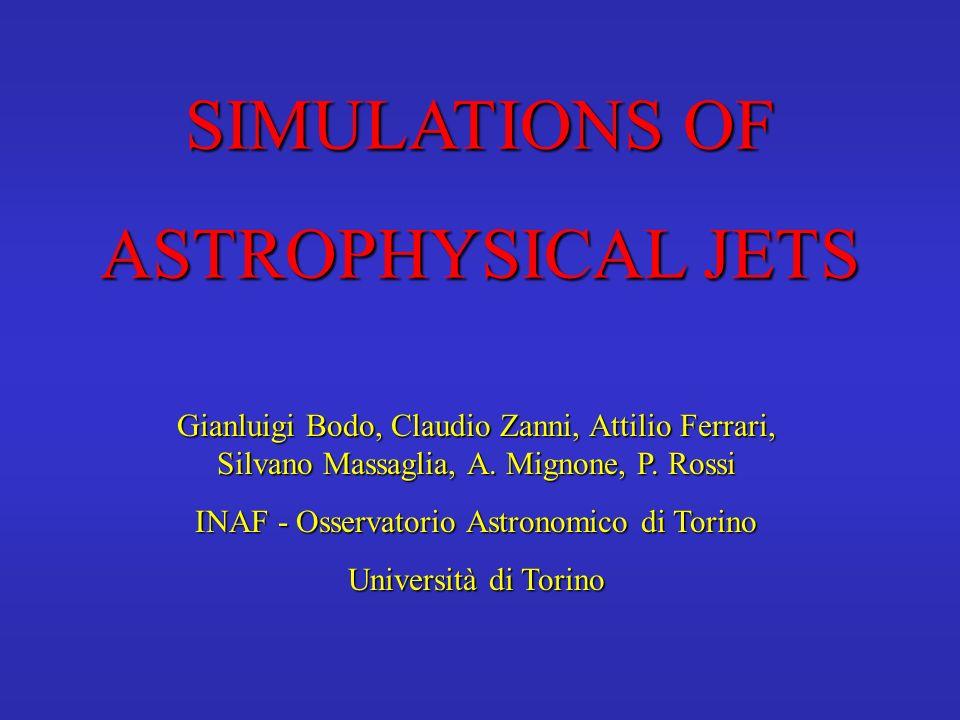 SIMULATIONS OF ASTROPHYSICAL JETS Gianluigi Bodo, Claudio Zanni, Attilio Ferrari, Silvano Massaglia, A. Mignone, P. Rossi INAF - Osservatorio Astronom