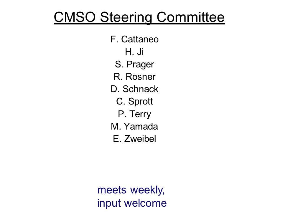 CMSO Steering Committee F. Cattaneo H. Ji S. Prager R.