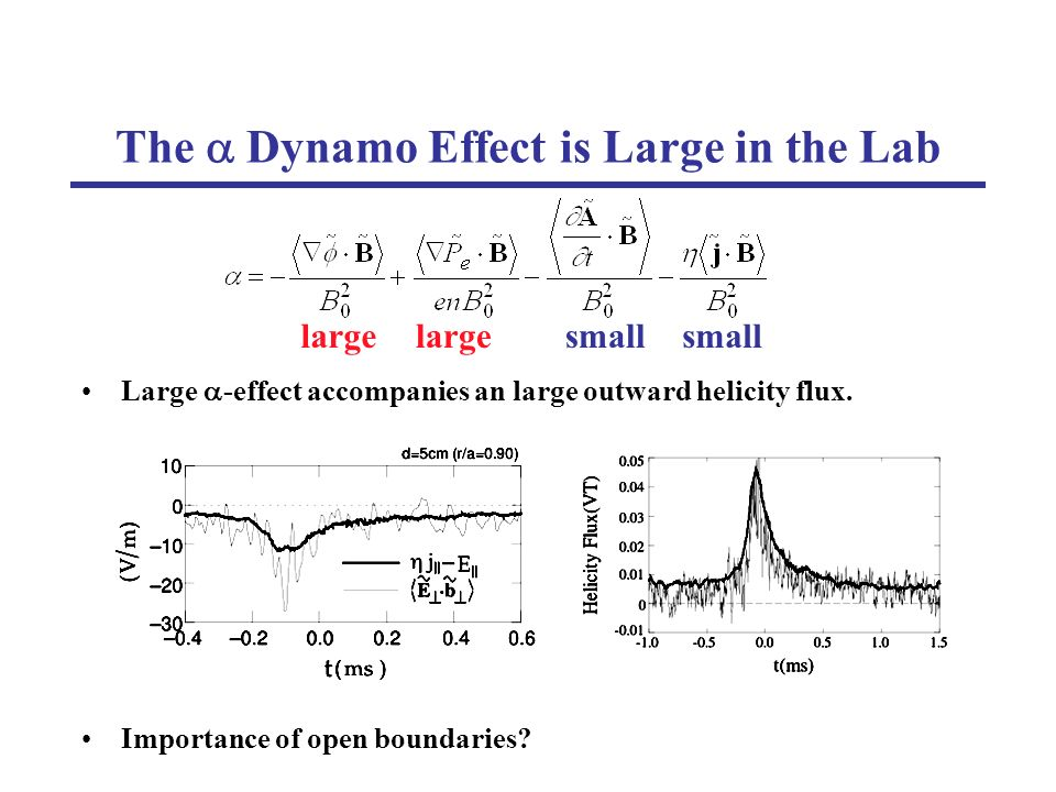 Large -effect accompanies an large outward helicity flux.