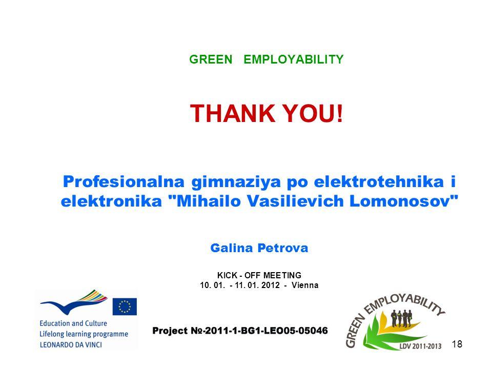 GREEN EMPLOYABILITY 18 THANK YOU.