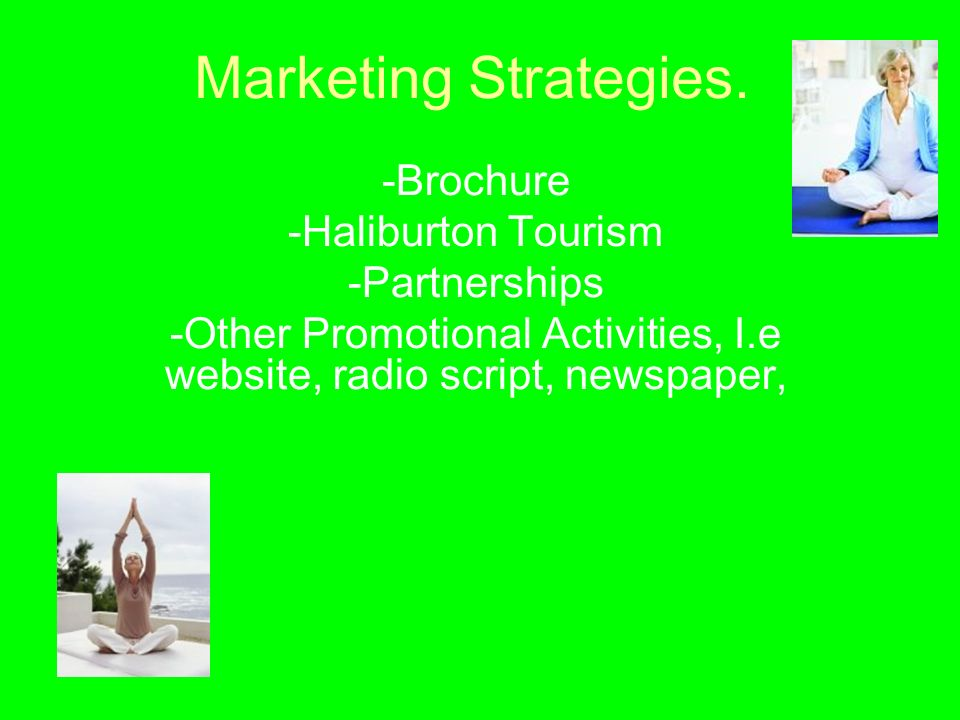 Marketing Strategies.