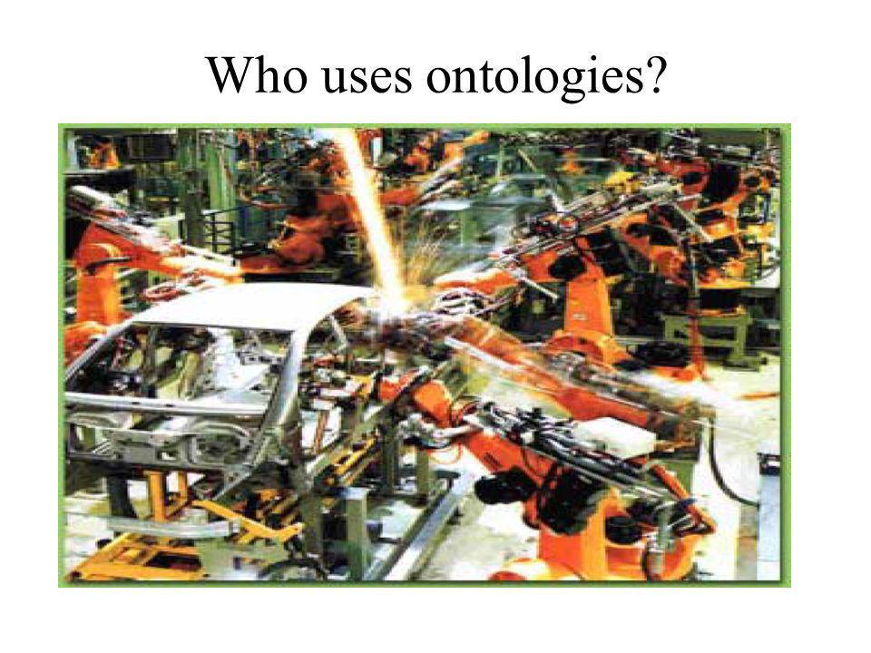 Who uses ontologies?