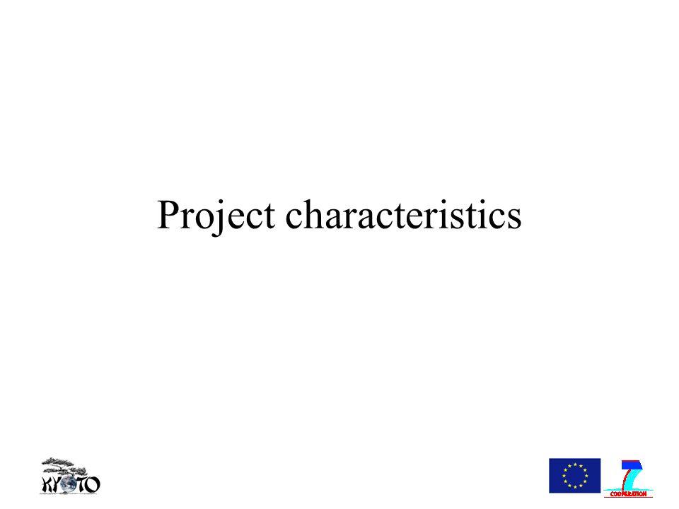 Project characteristics