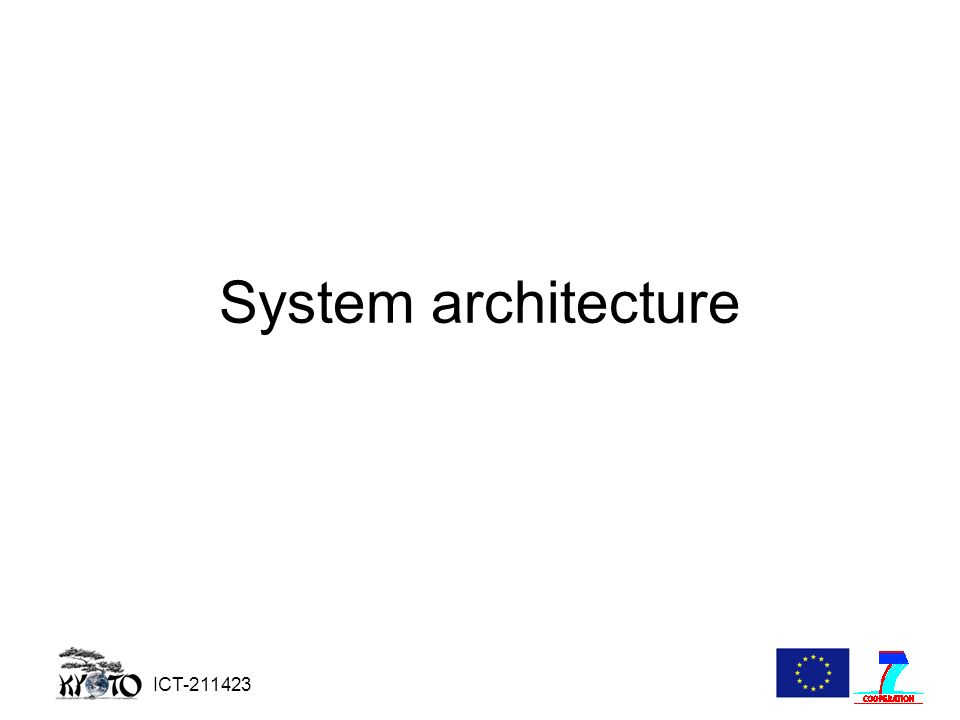 ICT-211423 System architecture
