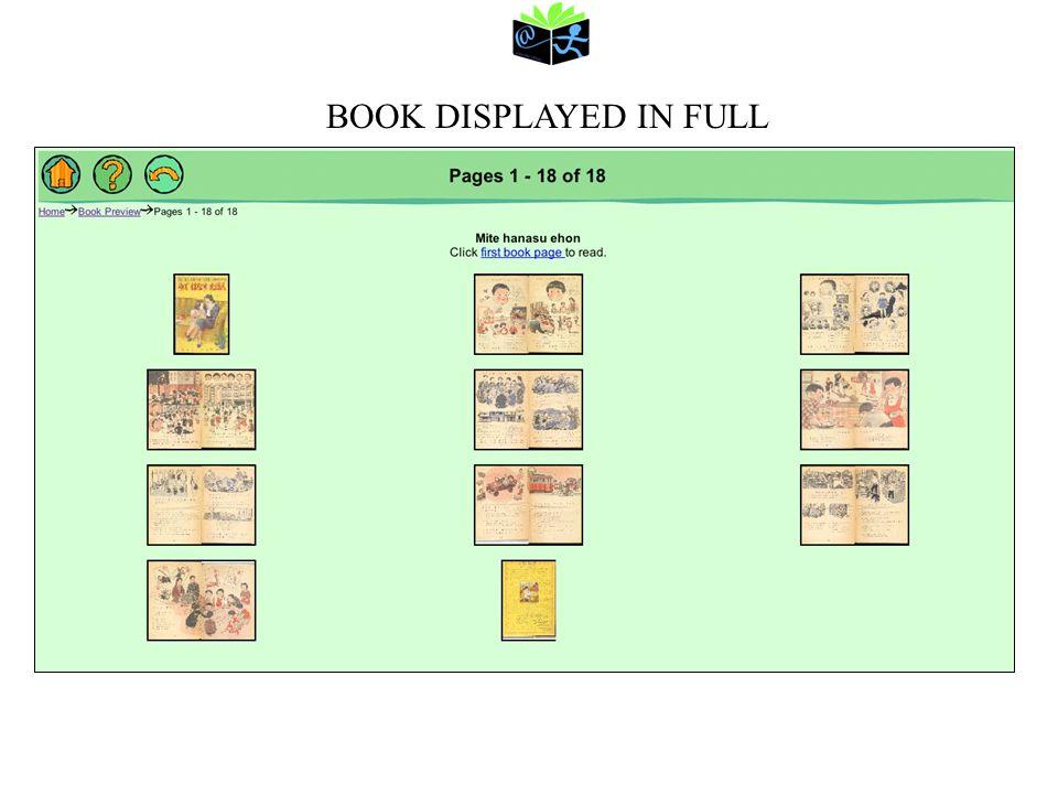 BOOK DISPLAYED IN FULL