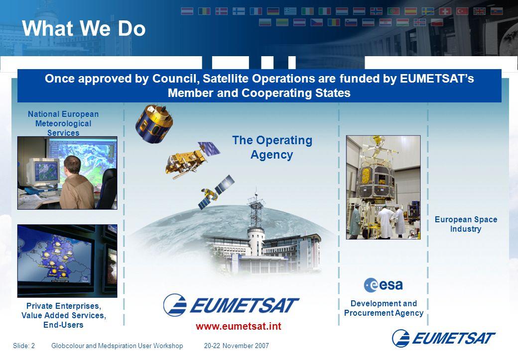 Slide: 13 Globcolour and Medspiration User Workshop 20-22 November 2007 OSI SAF: Operational Product suite: Surface Fluxes www.osi-saf.org