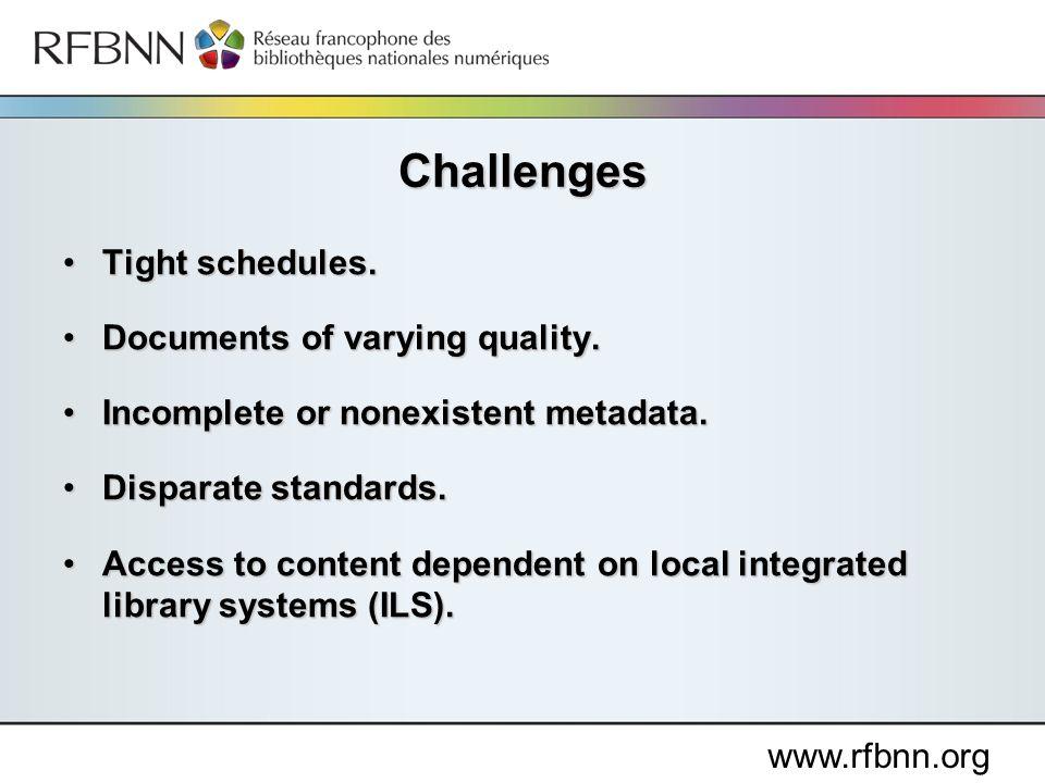 www.rfbnn.org Tight schedules.Tight schedules.