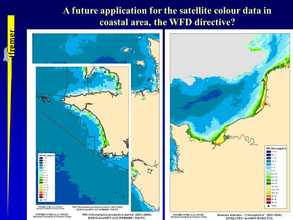 A future application for the satellite colour data in coastal area, the WFD directive
