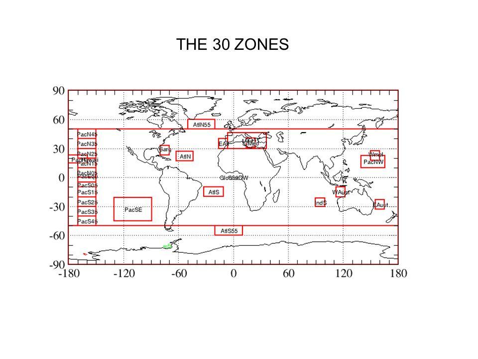 THE 30 ZONES