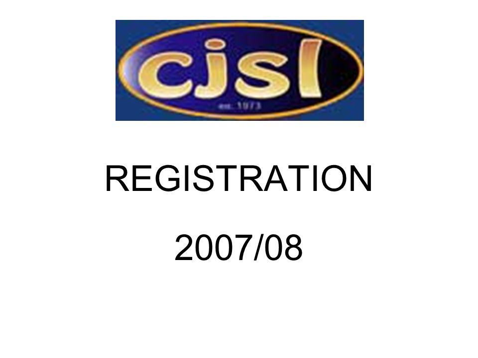 REGISTRATION 2007/08