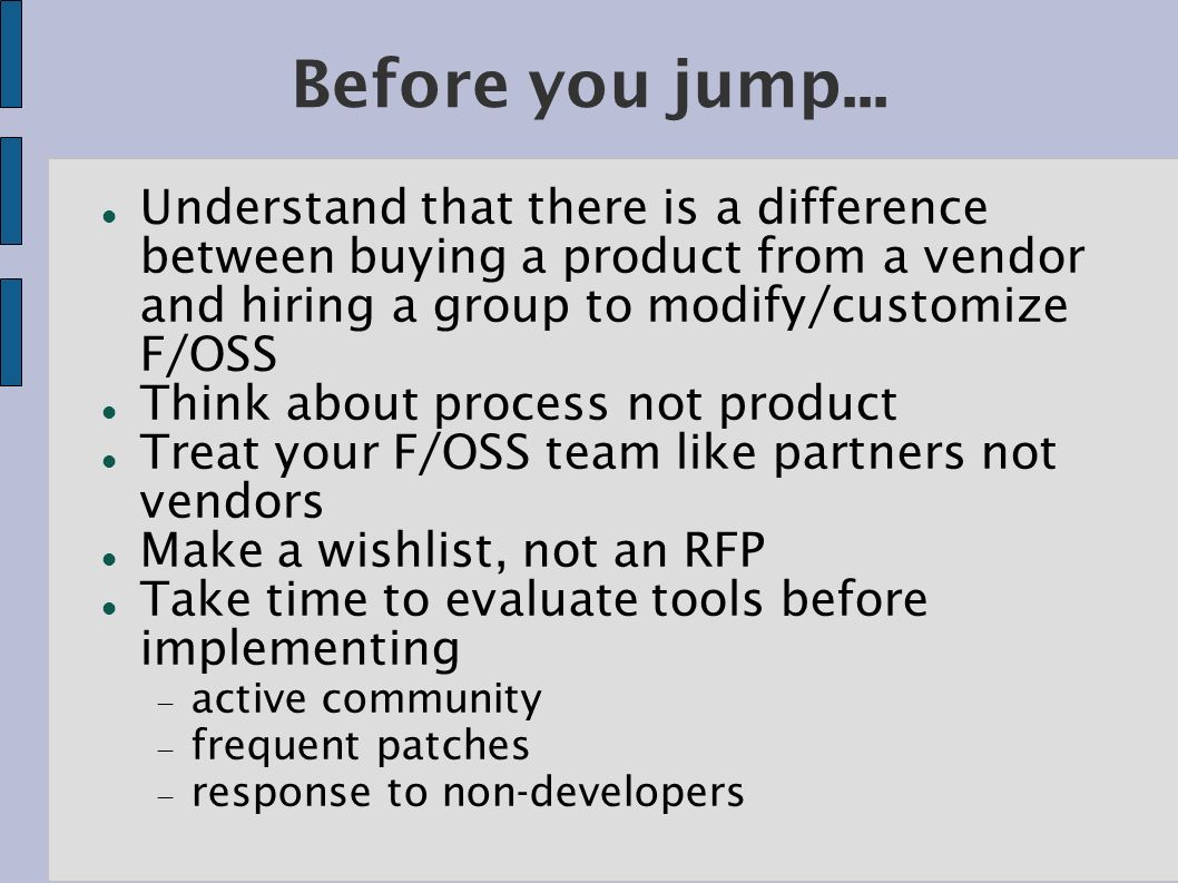 Before you jump...
