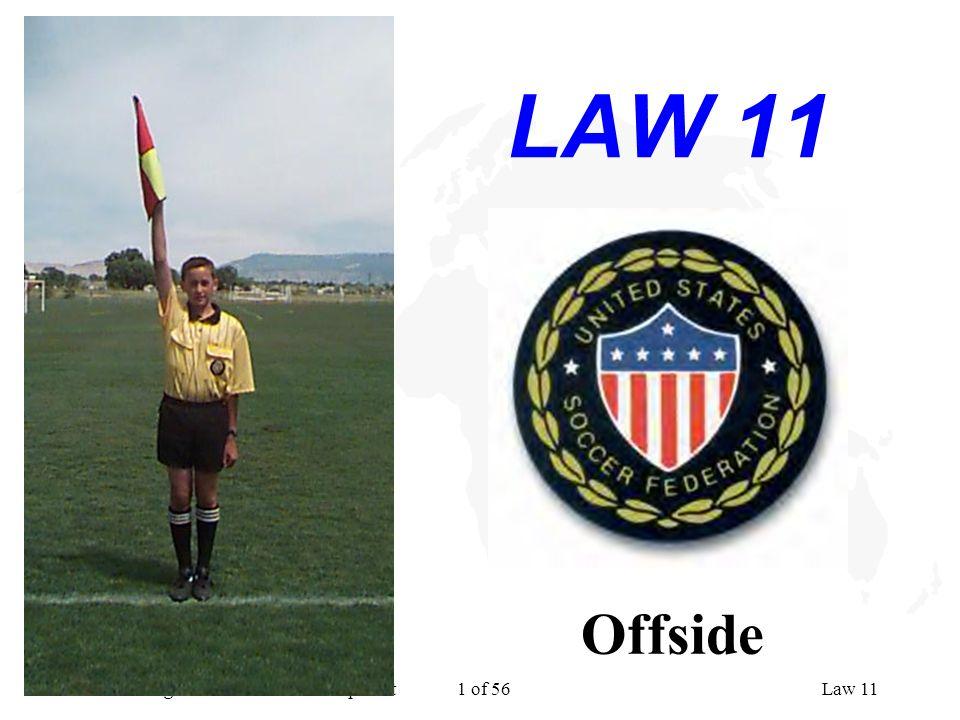 National Program for Referee Development 1 of 56Law 11 LAW 11 Offside