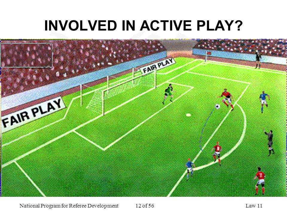 National Program for Referee Development 12 of 56Law 11 INVOLVED IN ACTIVE PLAY?