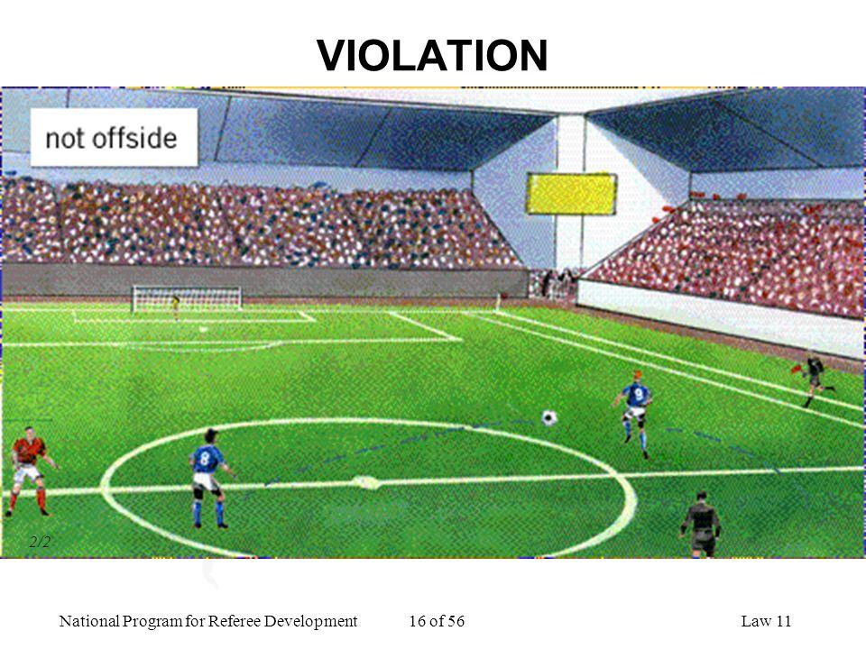 National Program for Referee Development 16 of 56Law 11 VIOLATION 2/2