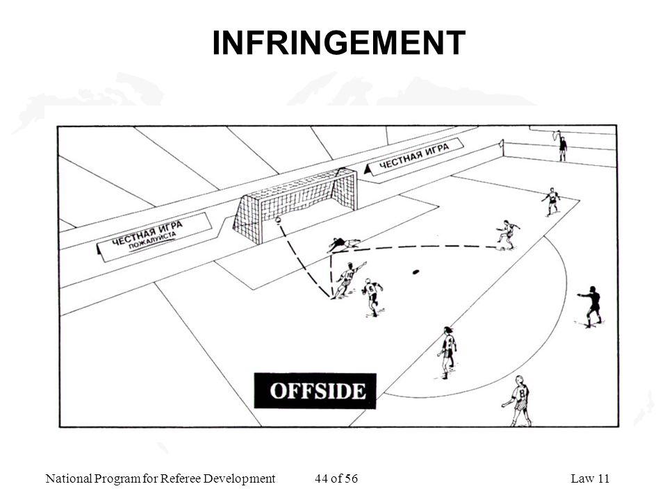 National Program for Referee Development 44 of 56Law 11 INFRINGEMENT