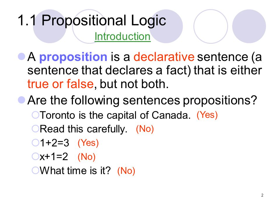1.3 Predicates and Quantifiers Example: Consider these statements.