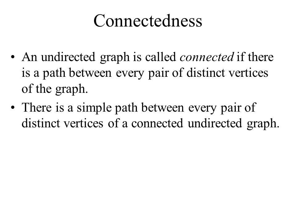 Example u 1, u 2, u 5, u 4, u 3 –Is it simple? –yes –What is the length? –4–4 –Does it have any circuits? –no u 1 u 2 u 5 u 3 u 4