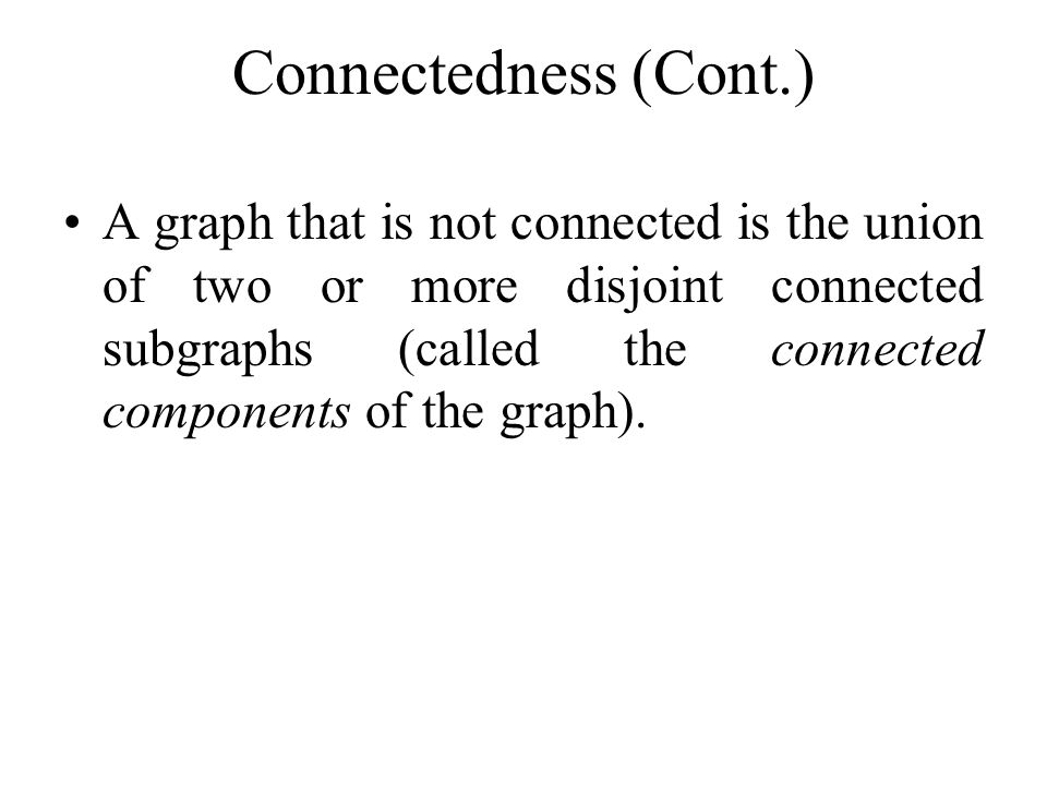 Example Are the following graphs connected? c e f a d b g e c a f b d YesNo