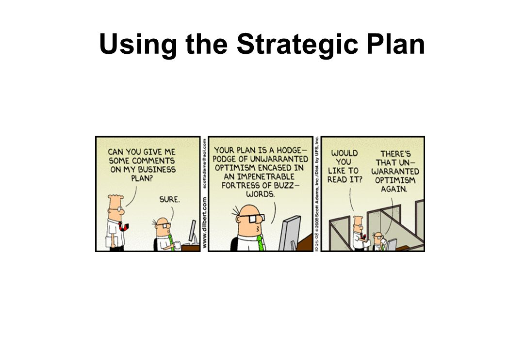 Using the Strategic Plan