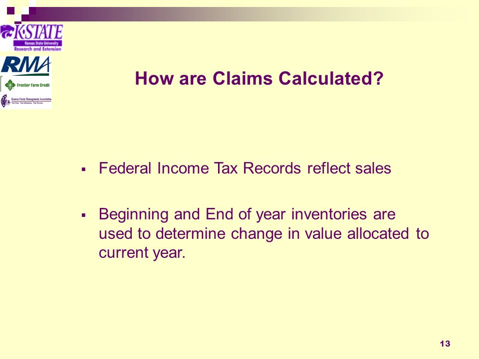 13 How are Claims Calculated.