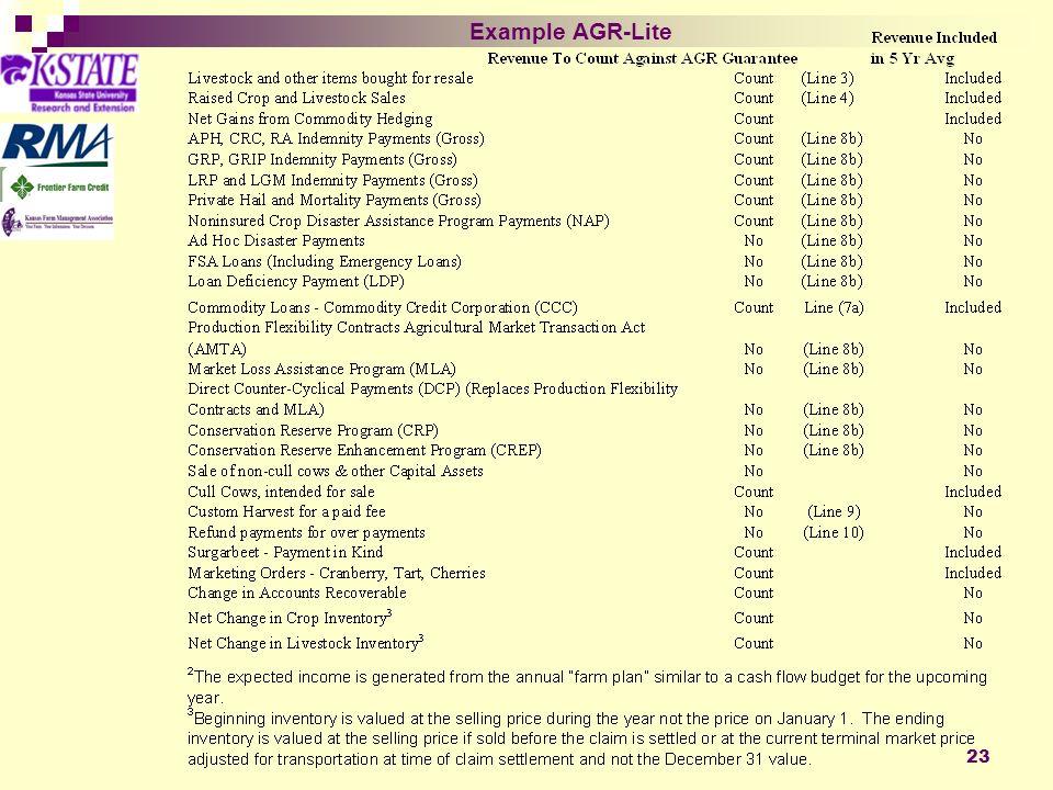 23 Example AGR-Lite