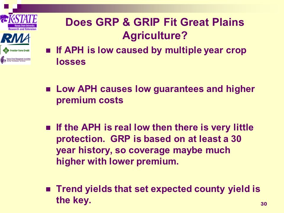30 Does GRP & GRIP Fit Great Plains Agriculture.