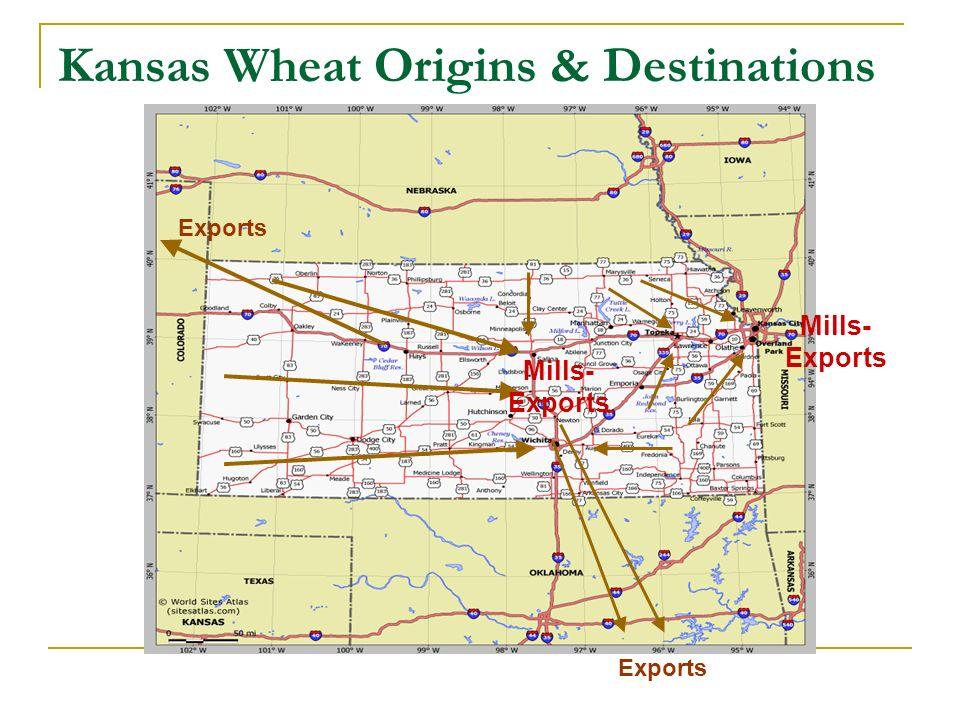 Kansas Wheat Origins & Destinations Exports Mills- Exports Mills- Exports