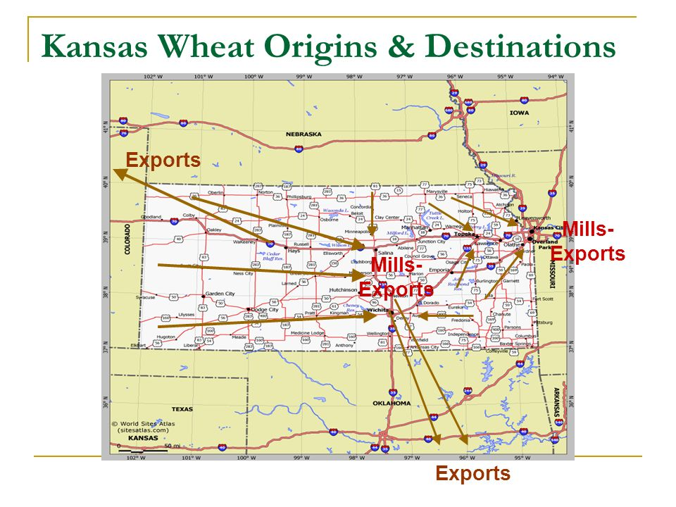 Kansas Wheat Origins & Destinations Exports Mills- Exports Mills- Exports