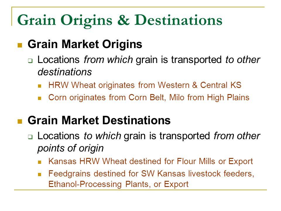 Grain Sorghum Price Spreads Origin: Colby, Kansas, February 5, 2008 Location$Price /bu.Vs Colby Colby NW $4.55--- Goodland NW $4.51($0.04) Norton NW $4.56+$0.01 Scott City SW $4.55even Garden City SW $4.60+$0.05 Protection SW $4.70+$0.15 Salina C $4.92+$0.37