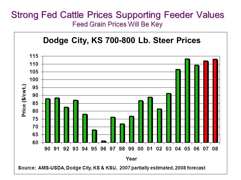 Strong Fed Cattle Prices Supporting Feeder Values Feed Grain Prices Will Be Key