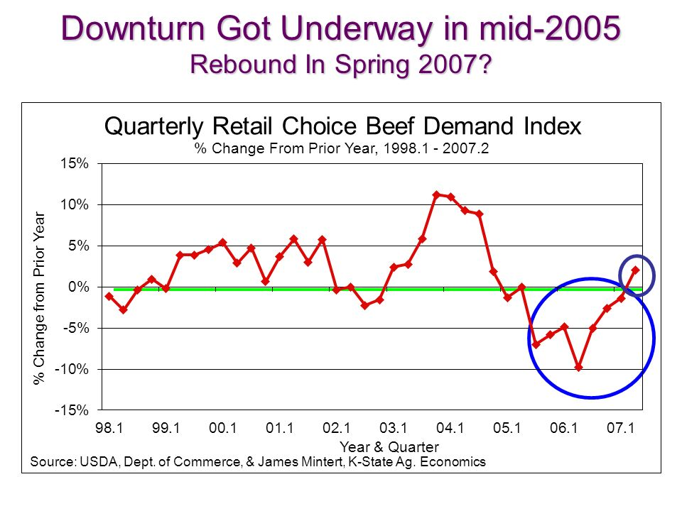 Downturn Got Underway in mid-2005 Rebound In Spring 2007