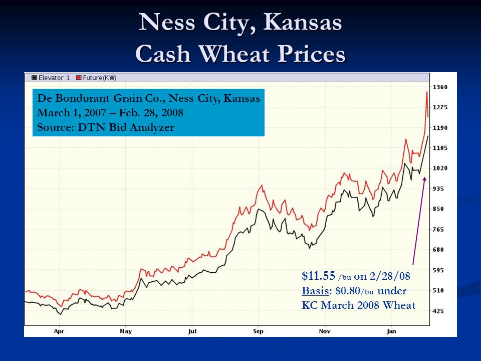 Ness City, Kansas Cash Wheat Prices De Bondurant Grain Co., Ness City, Kansas March 1, 2007 – Feb.