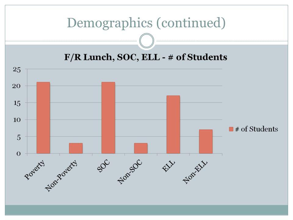Demographics (continued)