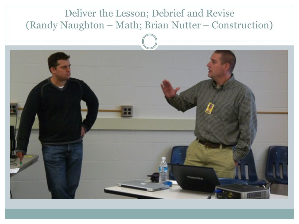 Deliver the Lesson; Debrief and Revise (Randy Naughton – Math; Brian Nutter – Construction)