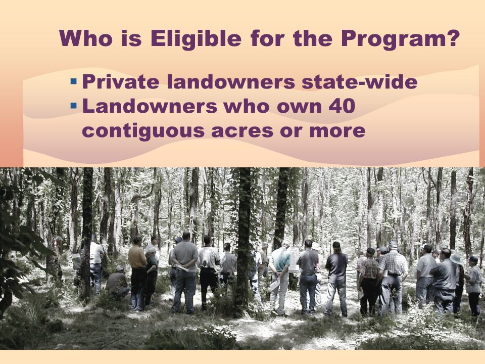 Who is Eligible for the Program.