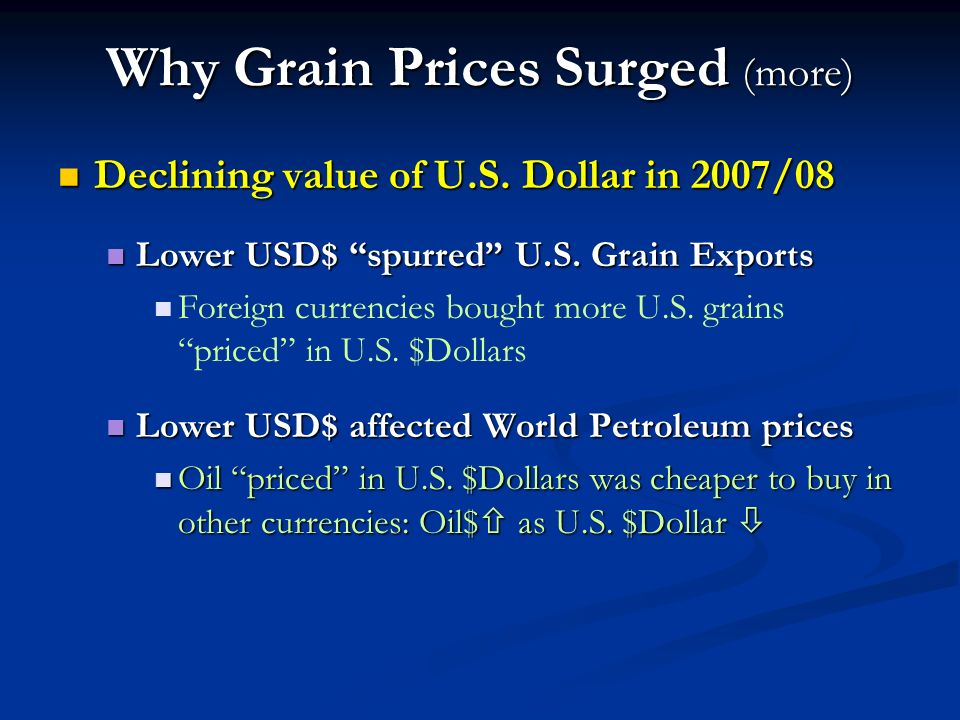 U.S. Corn Ending Stocks Corn Ending Stocks as a % of Total Use (Feb. 10, 2009 USDA WASDE)