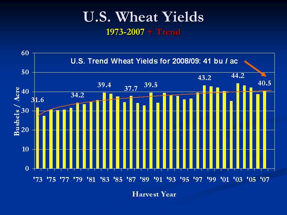 U.S. Wheat Yields 1973-2007 + Trend