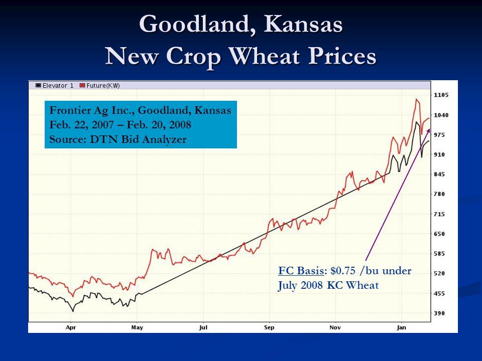 Goodland, Kansas New Crop Wheat Prices Frontier Ag Inc., Goodland, Kansas Feb.