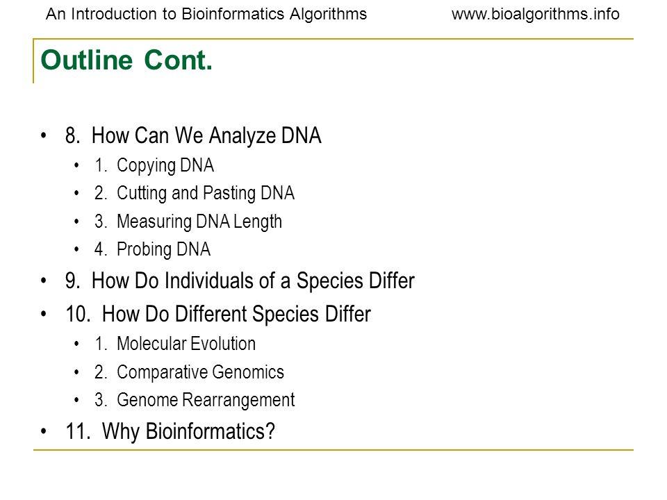 An Introduction to Bioinformatics Algorithmswww.bioalgorithms.info 2 types of cells: Prokaryotes v.s.Eukaryotes