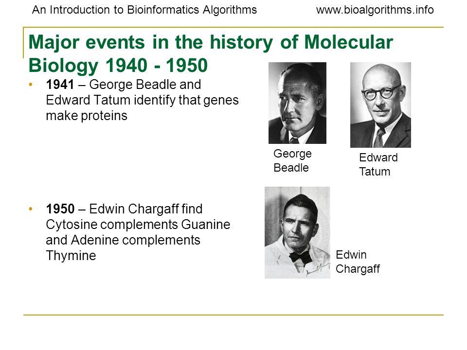 An Introduction to Bioinformatics Algorithmswww.bioalgorithms.info Chromosomes Organism Number of base pair number of Chromosomes --------------------------------------------------------------------------------------------------------- Prokayotic Escherichia coli (bacterium) 4x10 6 1 Eukaryotic Saccharomyces cerevisiae(yeast)1.35x10 7 17 Drosophila melanogaster(insect)1.65x10 8 4 Homo sapiens(human)2.9x10 9 23 Zea mays(corn)5.0x10 9 10