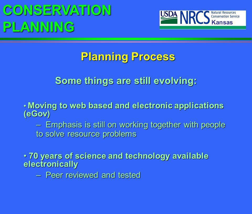 CONSERVATION PLANNING Filter strips absorb sediments and nutrients. Conservation Planning Process