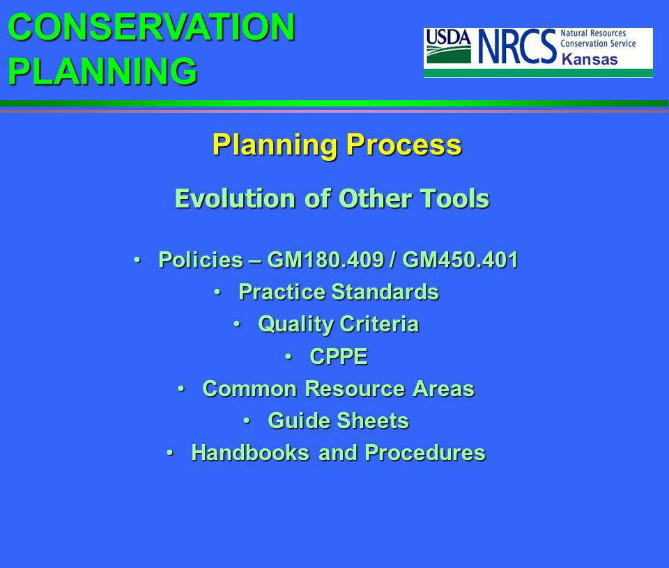 CONSERVATION PLANNING eFOTG - Select a section