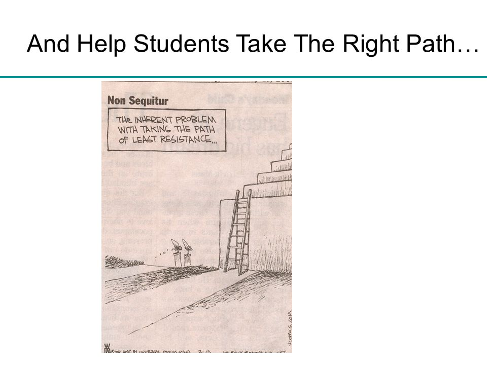 And Help Students Take The Right Path…